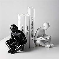 ブックエンド本棚ホルダー クリエイティブセラミックスブックエンドモダンなシンプルなブックエンドオフィススタディワインの内閣家の装飾ブックエンドの装飾 ブックストッパーのサポート