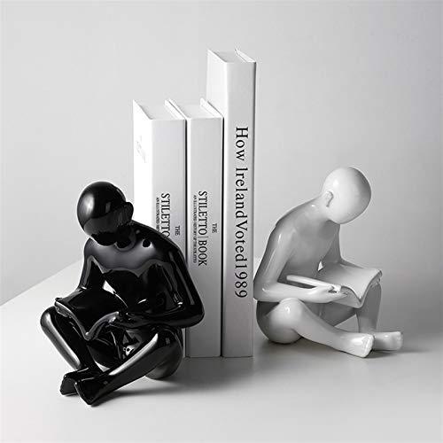 Chunshop Sujetalibros Creative Ceramics Sookends Moderno Simple Sookends Oficina Estudio Vino Decoraciones para el hogar Decoración de la decoración Sujetalibros para Libros de Oficina