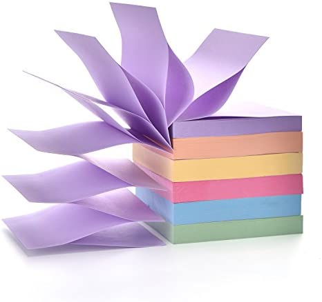 Pop Up Sticky Notes Pad 3 in x 3 in Candy Color Easy Post Notes 6 Pad 100 Sheet pad 600 Sheet product image