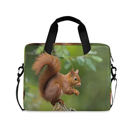 JNlover Forest Süße Tier Eichhörnchen Laptop Tasche 16 Zoll Tragbare Sleeve Aktentasche Laptop Case Notebook Computer Tragetasche Tasche für Damen Herren