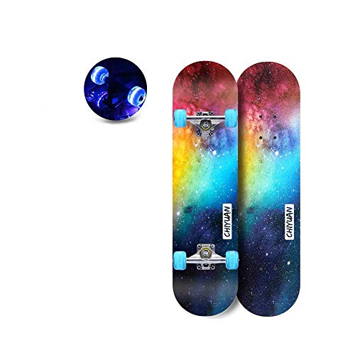 SHPT Cruiser Boards Komplett 3 Zoll Longboard Für Hybrid Freestyle Carving Cruising 7 Lagen Alpine Hard Rock Maple Für Anfänger Erwachsene Jugend Mädchen Und Kinder Enthält Tool,A