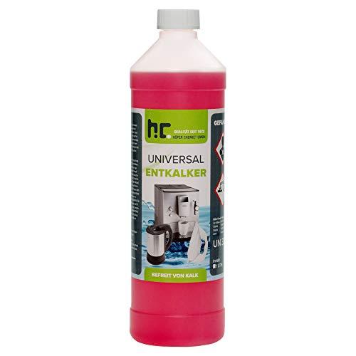 Höfer Chemie 6 x 1 L Universal Entkalker mit Farbindikator für Kaffeemaschinen & Kaffeevollautomaten