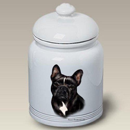 French Bulldog Black/White - Tamara Burnett Treat Jars