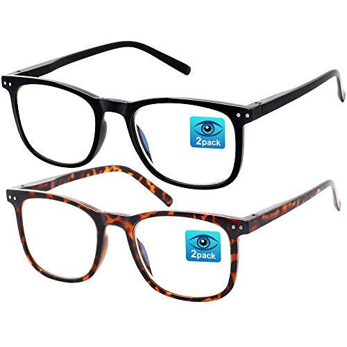 Gafas anti Luz Azul - Paquete de 2 Gafas para Ordenador, Gafas de Filtro Luz Azul para Hombres/Mujeres, Gafas Proteccion Ordenador Gafas Gaming para Antifatiga