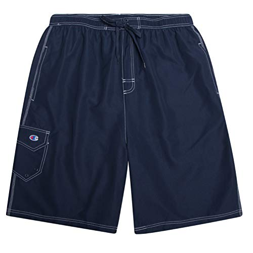 Champion Shorts Swim Trunks Big and Tall Swimming Trunks for Men Bathing Suit Navy