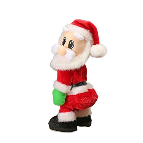 TOYMYTOY Tanzender Weihnachtsmann mit Musik Kinder elektrisch Spielzeug lustig singende und tanzende weihnachtsfiguren Weihnachtsgeschenke Deko