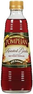 Pompeian Vinegar 16oz Bottle (Pack of 3) Select Flavor Below (Roasted Garlic Infused Red Wine)