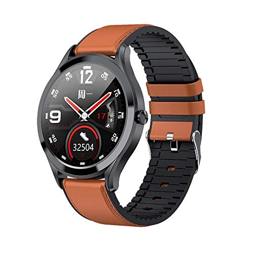 2 unidades de reloj inteligente, 1.7 pulgadas Ip67 impermeable pantalla táctil reloj de pulsera con frecuencia cardíaca/presión arterial, para iOS y Android (negro, dorado)