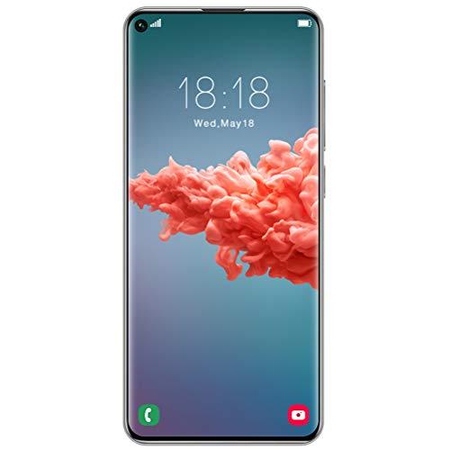 ZXYSR Smartphone Offerta, Y50 PRO Cellulari Offerte (2020) 7.2' HD+ Schermo 4GB RAM 64GB Rom 5000Mah Fotocamera 18MP+48MP 4G Dual SIM Sblocco con Impronta Digitale Posteriore, Telefonino,Bianca