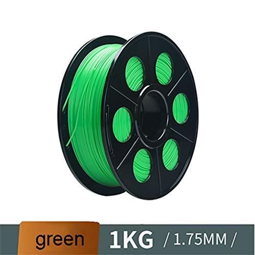 QDTD 3D Impresión por Calzado Y Juguetes de Los Niños de Filamentos PLA Filamento Elástico de 1,75 Mm 3D Impresora Verde
