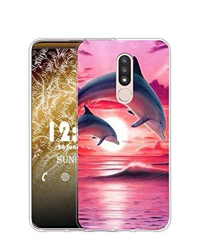 Sunrive Kompatibel mit Nokia 4.2 Hülle Silikon, Transparent Handyhülle Schutzhülle Etui Hülle (Q Delfin)+Gratis Universal Eingabestift MEHRWEG