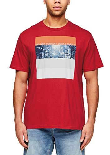 s.Oliver RED Label Herren T-Shirt mit modischem Fotoprint red 4XL