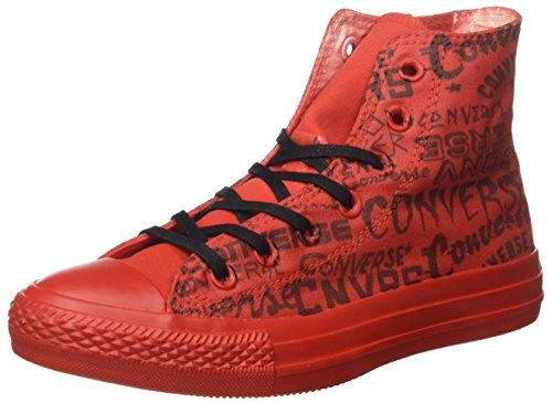 Converse All Star Hi Canvas Ltd, Sneaker Unisex – Adulto, Rosso, 40 EU