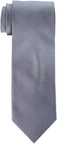 Calvin Klein Men s Steel Micro Solid B Tie, Silver, One Size