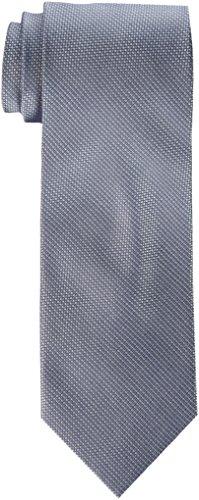 Calvin Klein Men's Steel Micro Solid B Tie, Silver, One Size