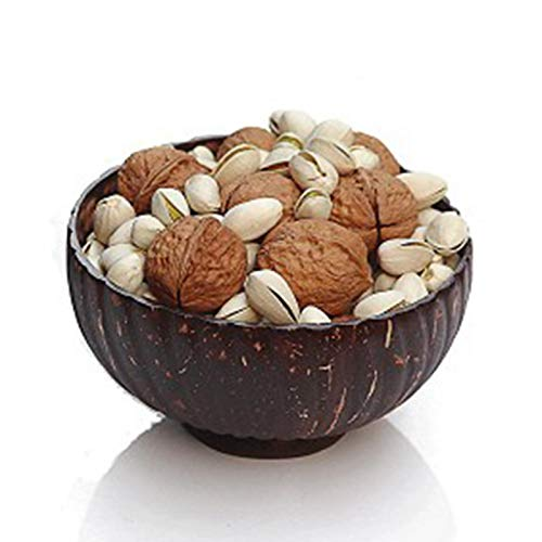 Natural Coconut Bowls With Wooden Spoons, Organic Coconut Bowl, Durable Easy Clean Coco Shells Acai Smoothie Bowl Noodle Ramen Bowls Eco Friendly Gifts