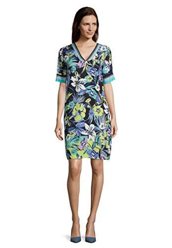 Betty Barclay Damen 1025/1266 Kleid, Mehrfarbig (Dark Blue/Green 8857), (Herstellergröße: 38)