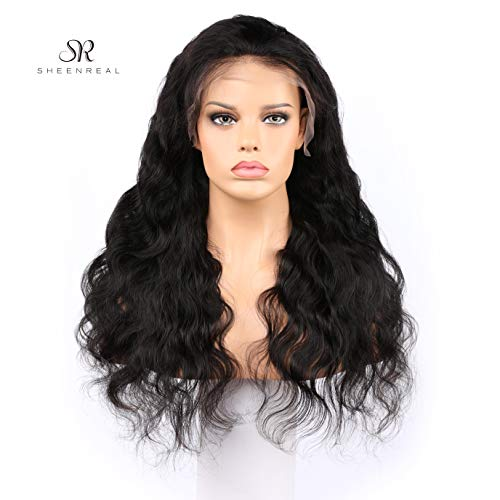 Body Wave Lace Front Wigs Human Hair 180% Density Glueless Brazilian Remy Wavy Human Hair Wigs Pre Plucked Natural Hairline Wigs for Women (20 Inch)- Sheenreal Hair