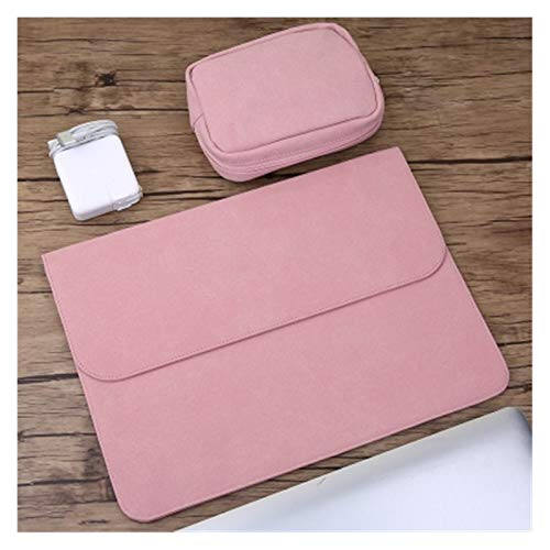 YTG Scrub pu computer liner bag 11 12 15 new 16 touch/ID bar women's men's cover (Color : Sets pink, Size : 2019 New Air 13 inch)