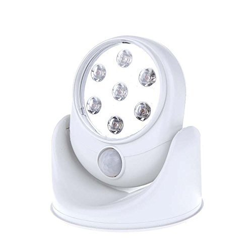 Wireless Motion Sensor Light LED Night Light As Seen On TV 360 Degree Pivots Cordless Motion Activated Security Lamp with 7 Super Bright LEDs for Garden/Bedroom/Cabinet/Kitchen(Exclude Battery)
