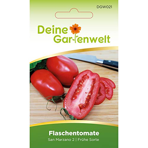 Flaschentomate San Marzano 2 Tomatensamern | Samen für Tomaten | Flaschentomatensamen | Saatgut für Flaschen-Tomaten