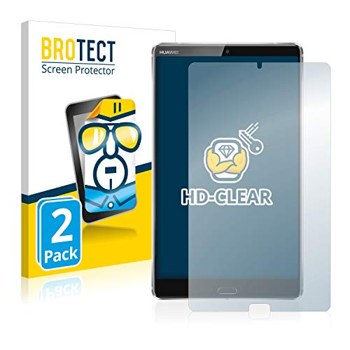 BROTECT Schutzfolie kompatibel mit Huawei MediaPad M5 8.4 (2 Stück) klare Bildschirmschutz-Folie