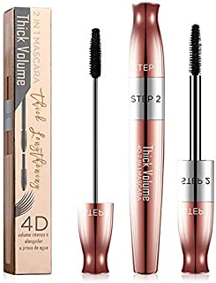 Lash Mascara, Eyelash Mascara,4D Volumizing Mascara,Waterproof Smudge-Proof Lengthening and Thick, Long Lasting Eyelashes Essence