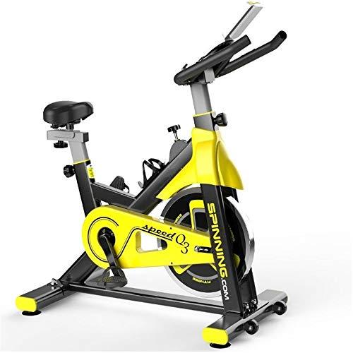 Yuefensu Bicicleta Entrenamiento de la Aptitud de la Bici Vertical Inicio Deportes Bicicleta apropiados for Uso casero de la Gimnasia aeróbicos Deportes (Color : Yellow, Size : 105x50x112cm)