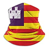 Xian Shiy Bandera de las Islas Baleares Calentador de cuello Polaina A prueba de viento Boca Bufanda Negro