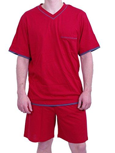 Seidensticker Herren Anzug-Kurz Zweiteiliger Schlafanzug, Rot (rot 500), Small (Herstellergröße: 048)