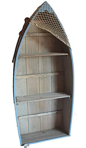 Asia Art Factory AAF Nommel, Boot Regal 101 x 45 x 15 cm, Kiefernholz, Maritim Dekor im Shabby Look,...