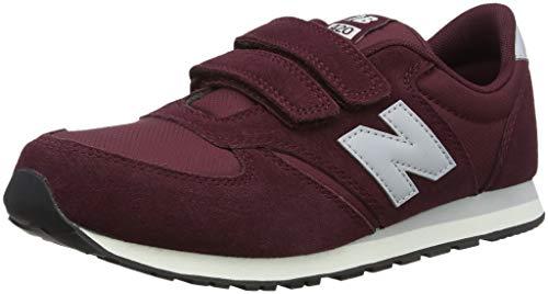 New Balance Unisex-Kinder 420 Sneaker, Rot (Burgundy/Grey Un), 33 EU