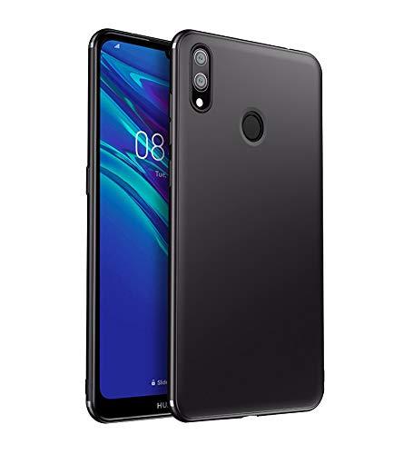 Olliwon Kompatibel mit Huawei Y7 2019 Hülle Silikon Dünn Leichte Schutzhülle Schwarz Flexibel TPU Bumper Case Cover für Huawei Y7 2019 6,26