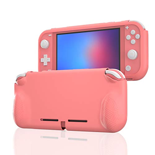 Grip Case Compatible with Switch lite, Protective Cover Case Compatible with Switch lite - Coral