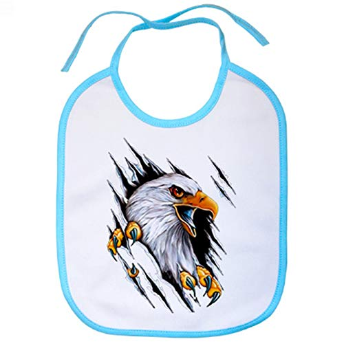 Babero águila moteros - Celeste