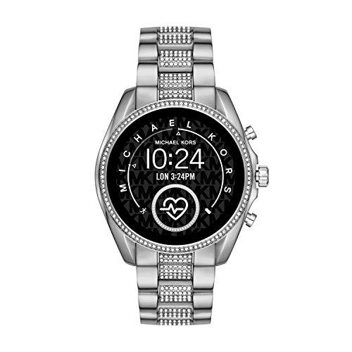 Michael Kors Access Women's Bradshaw 2 Touchscreen Stainless Steel Smartwatch, Silver w/Pave centerlinks-MKT5088