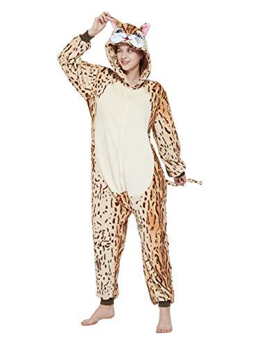 Mcdslrgo Katze Strampler Erwachsene Kostüm Frauen Pyjama Halloween Weihnachten Tier Cosplay (L, Cat)