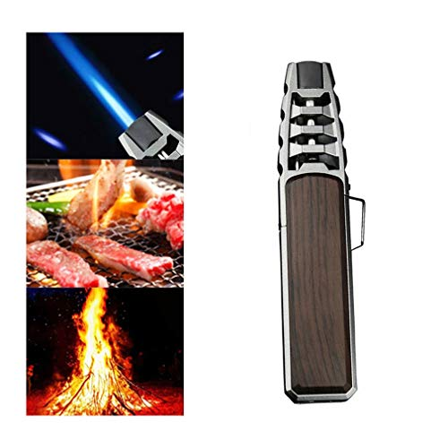 Outdoor Pen Jet Torch Lighter Turbo Gas Kitchen BBQ Metal Windproof Lighter Gadgets for Men - Winddichte Flammenlose Elektro Arc Lighter für Yankee Kerzen, Grill, Küche, Herd, Camping, Kamin (Braun)