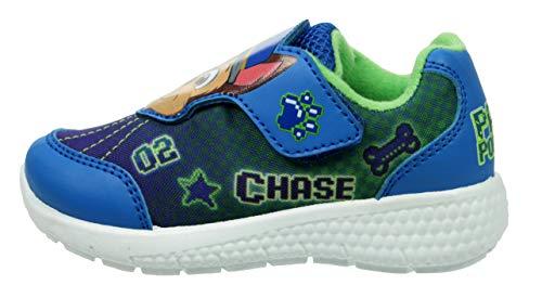 Paw Patrols - Zapatillas de entrenamiento con licencia oficial para niños, talla 5-10, color azul