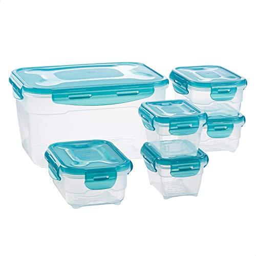 Amazon Basics Juego de almacenamiento de comida de 6 unidades