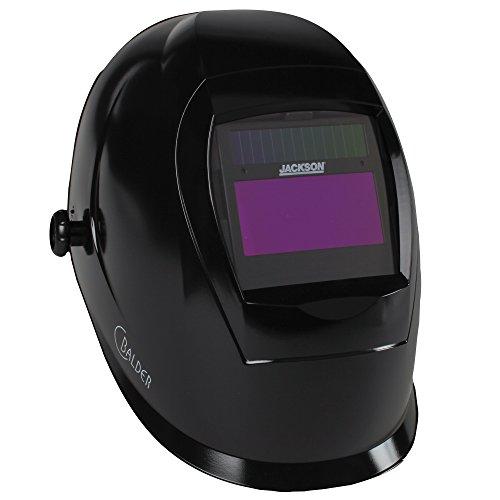 Jackson Safety SmarTIGer Variable Auto Darkening (ADF) Welding Helmet with Balder Technology (37188), W40, Black