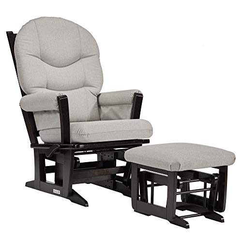 Dutailier Modern 0386 Glider Multiposition-Lock Recline with Ottoman Included