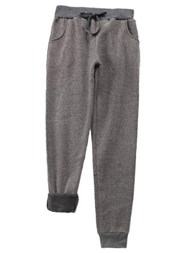Lowest Price! Andongnywell Womens Warm Sherpa Lined Athletic Sweatpants Drawstring Joggers Fleece Pa...