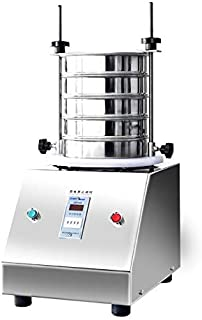 YUCHENGTECH Vibrating Sieve Machine Electric Vibrating Screen Shaker 7.87in for Powder Solid Liquid with One Sieve (110V)