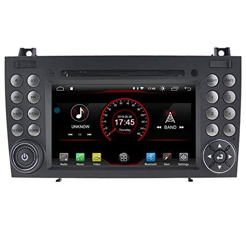 Autosion Android 9.0 Lecteur DVD de Voiture GPS Stéréo HeadUnit Navi Radio Multimédia WiFi pour Mercedes-Benz SLK R171 W171 SLK350 SLK300 SLK280 2004-2011 Volant de Commande