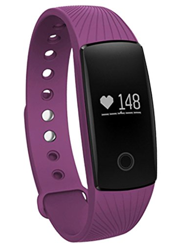 Sabuy Smart Band with Heart Rate Monitor Fitness Activity Tracker Sleep Counter Wireless Pedometer Wristband Sweatproof Sports Bracelet (Purple)