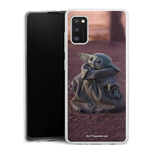 DeinDesign Slim Hülle extra dünn kompatibel mit Samsung Galaxy A41 Silikon Handyhülle transparent Hülle Star Wars The Child Baby Yoda