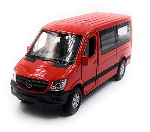 Onlineworld2013 Sprinter mit Fenster Rot Modellauto Auto Maßstab 1:34 (lizensiert)