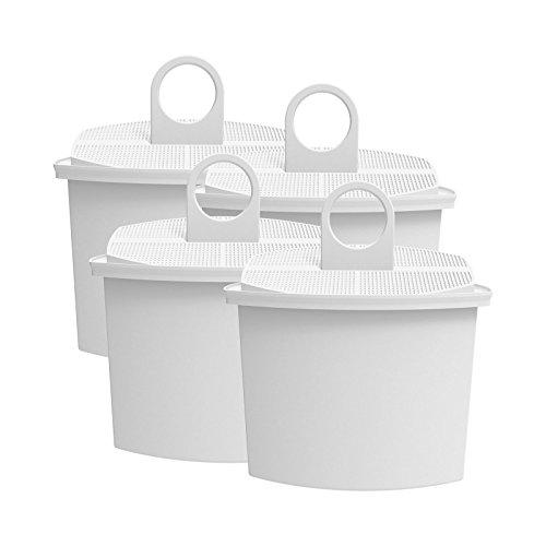 AquaCrest AQK-12 Kompatibler Kaffeemaschinen Wasserfilter Ersatz für Braun KWF2; Aroma Select KF130, KF140, KF145, KF147, KF150, KF155, KF160, Aroma Passion KF550, KF560, KFT150, KK148 (4)
