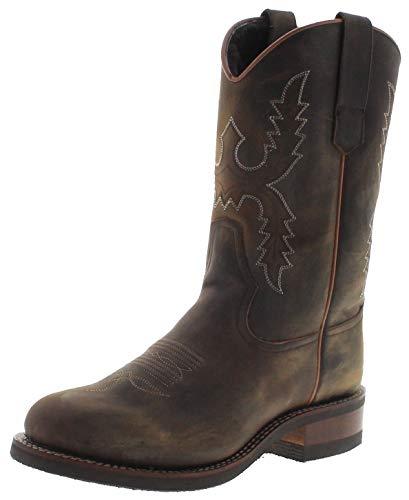 Sendra Boots 11615M - Stivali da equitazione da uomo, in pelle di agnello, colore: Marrone, Marrone (Dirty Tang.), 44 EU